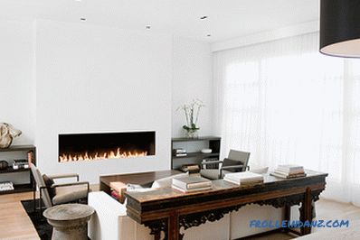 Chimeneas en el interior - 100 ideas de diseño con fotos.